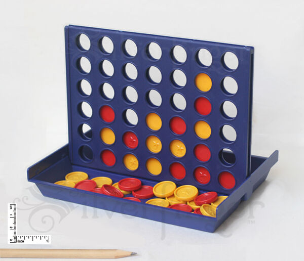 Match4 Game • Connect Four Checkers to Win — Portable Travel Size Family Fun Toy