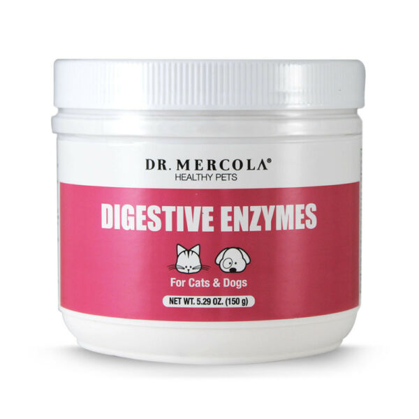 Dr. Mercola Digestive Enzymes For Pets - Dietary Supplement For Cats