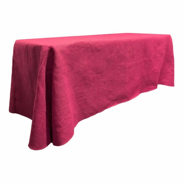 LA Linen Natural Burlap Rectangular Tablecloth 90 by 132-Inch. Made in USA
