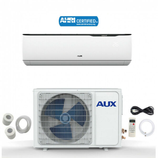 AUX MINI Split Air Conditioner Ductless Heat Pump System No WF12000BTU 115V12ft $529.95