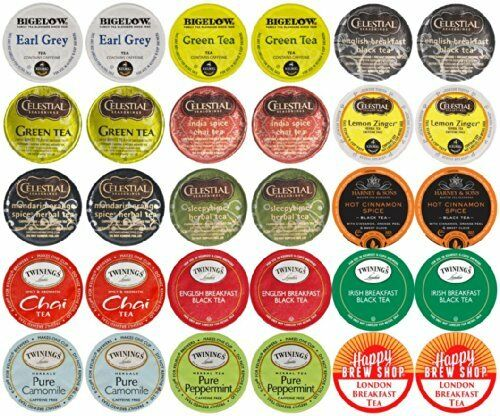 30-count TOP BRAND TEA K-Cup Variety Sampler Pack Single-Serve Cups for Keurig