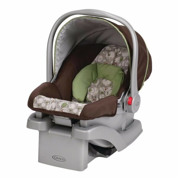Graco SnugRide Car Seat Elephants Jungle Animals Brown Green Safety Infant Baby