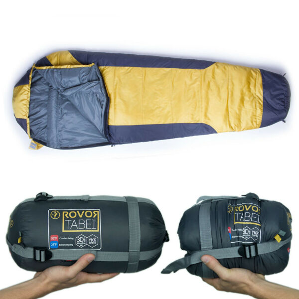 Rovor Tabei 52 Degree Mummy Backpacking Sleeping Bag with Included Stuff Sack $34.99