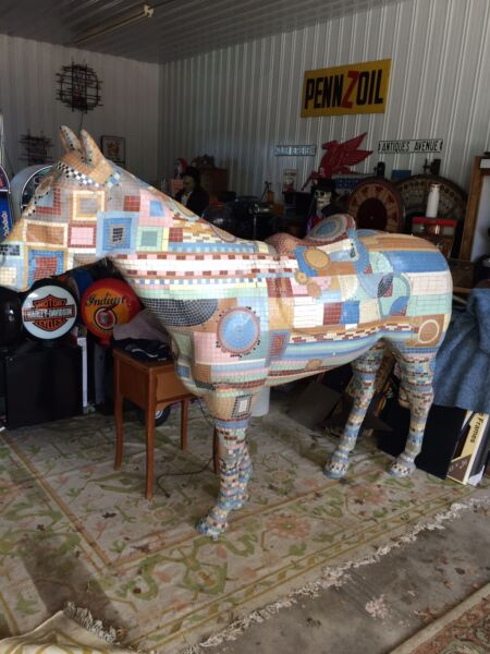 REDUCED !!! Full Size Artist Mosaic By Hand ...Fiberglass Horse