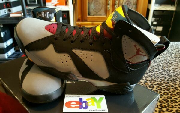 Air Jordan 7 Retro 10/13/10 BLACK/LT GRAPHITE BORDEAUX 304775 003 2011 2018