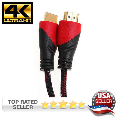 HIGH SPEED HDMI CABLE GOLD PLATED 4K FOR HDTV PS4 DVD BLURAY 3D XBOX PC MAC  1.4