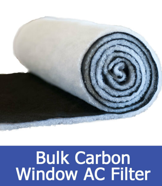 Window Air Conditioner Poly Carbon Filter 24quot;x96quot; Roll 1 Pack $73.87