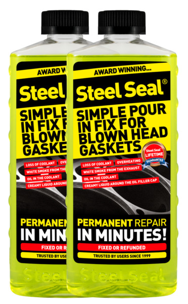 Steel Seal Head Gasket Sealer 32 oz for 8 cylinder cars - Free 2-3 Day Shipping!