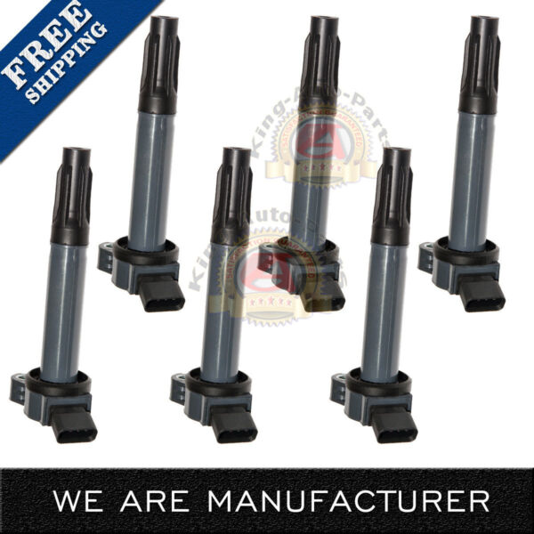 Ignition Coil Set of 6 Kit for Camry Avalon Rav4 Sienna Venza RX350 ES350 3.5L
