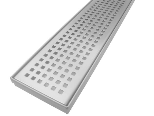 New Stainless Steel Linear Shower Drain Grate Floor Waste USA UPC Approved Squar
