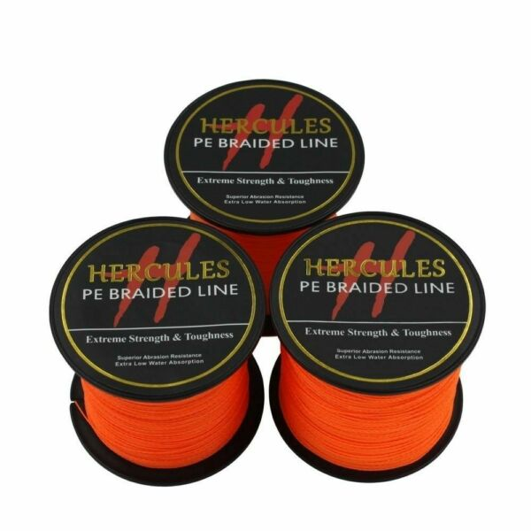 Hercules Orange 6lb-300lb PE Super Power Extreme 100M-2000M Braid Fishing Line