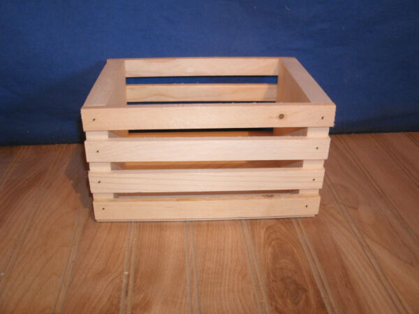 5 small wooden crateswood crate8quot; L 5 1 2quot;w 4 1 2quot; h unfinished wood crate