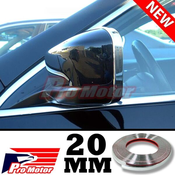 3M 20MM Chrome Molding Trim Exterior Guard Lower Window Side Door Strip Roof SUV $208.99