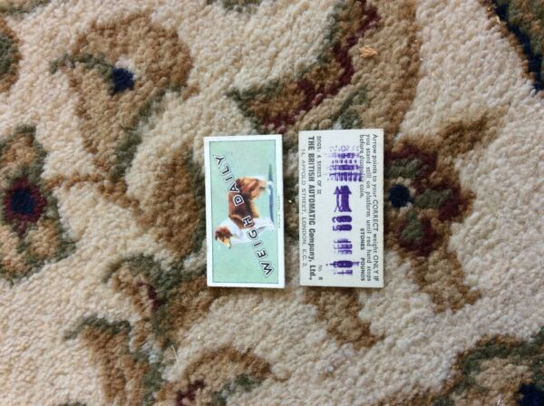 BRITISH AUTOMATIC DOGS 1ST SERIES WITH WEIGH DAILY # 08 collie rough GBP 1.75