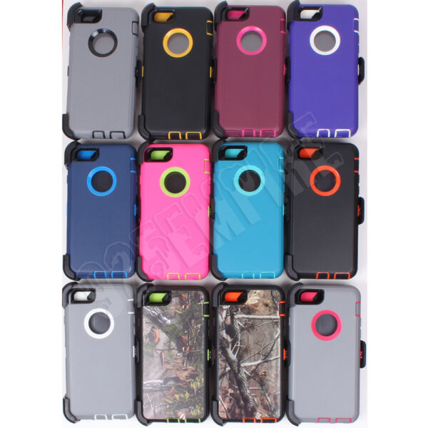 Defender Case for Apple iPhone 6 7 8 Plus XR XS MAX With Clip Fits OtterBox