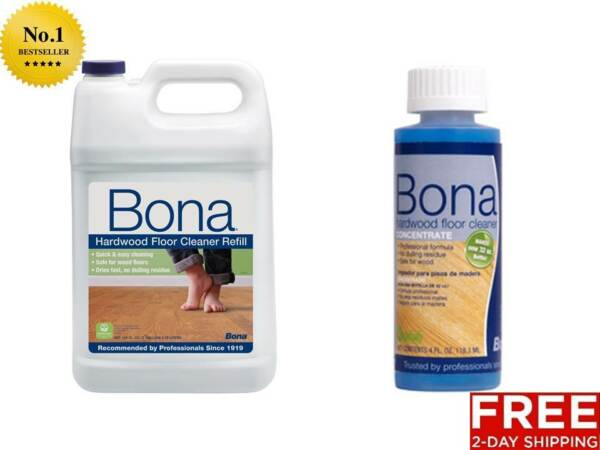 NEW BONA PRO SERIES HARDWOOD FLOOR HOUSE CLEANER REFILL GALLON OR CONCENTRATE
