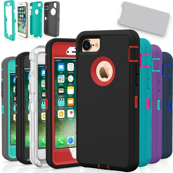 For iPhone 7  7 Plus 8  8 Plus Case Cover Protective Hybrid Rugged Shockproof $6.99