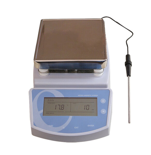 Heating Hot Plate Magnetic Stirrer Mixer Heater Chemical Laboratory 300℃