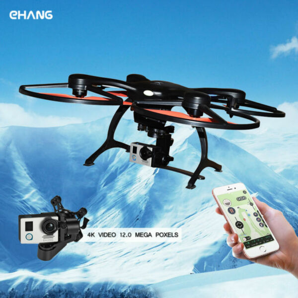 EHANG GHOSTDRONE 2.0 Aerial Drone Gimbal, 4K Sports HD Camera iOS/Android Black