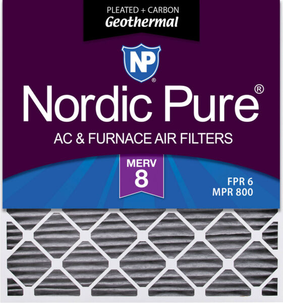 28x30x2 Geothermal MERV 8 Pleated Plus Carbon AC Furnace Filters 3 Pack $77.38