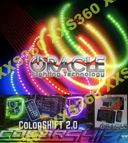 ORACLE Halo HEADFOGLIGHTS (non HID Style) Dodge Challenger 08-14 COLORSHIFT 2.0