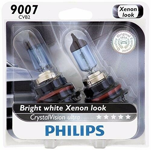 Philips 9007 Upgrade Crystal Ultra Vision HB5 Halogen Light Bulb 65W/55W Germany
