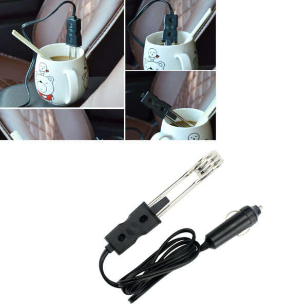 Universal 12V Car Cigarette Lighter Interface Immersion Heater For Water Liquid