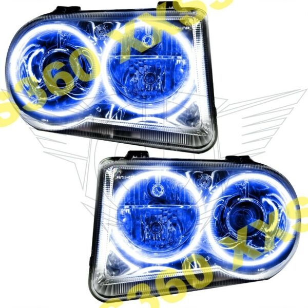 ORACLE Halo 2x HEADLIGHTS HID Style for Chrysler 300 300C V8 05-10 BLUE LED