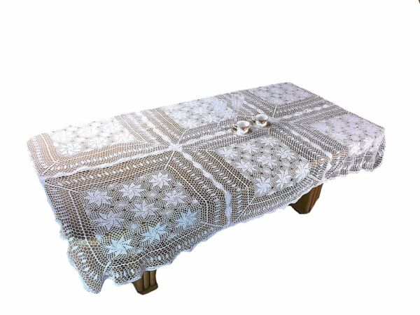 Dinning Kitchen Home Handmade Crochet Vintage Lace Table cover Tablecloth 60x90