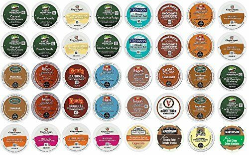 40 Count K Cup 2.0 Variety Sampler Pack - 40 Flavored K Cups for 2.0 and 1.0 ...