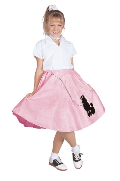 Pink Poodle Skirt Child Costume Pink White RG Costumes $25.25