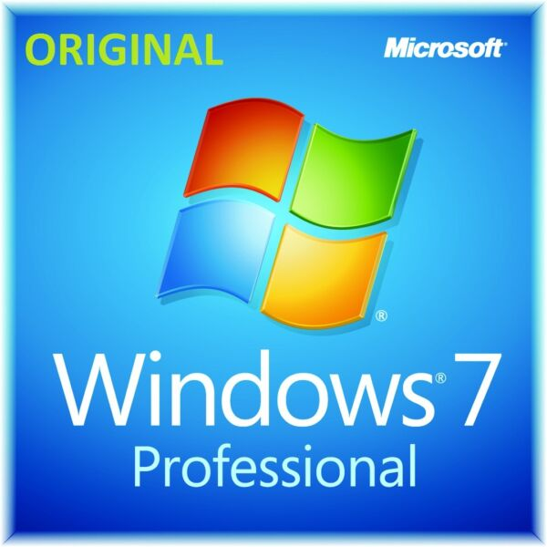 Microsoft Windows win 7 Pro professional 32 64 bit  ORIGINALE full produc