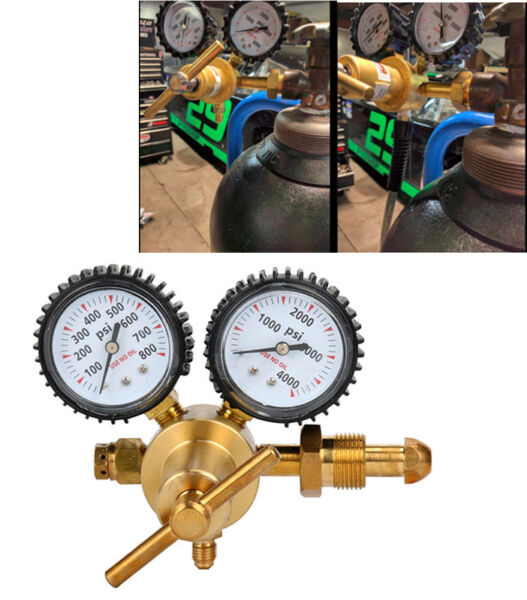 Nitrogen Regulator with 0-800 PSI Delivery Pressure CGA580 Inlet Connection US