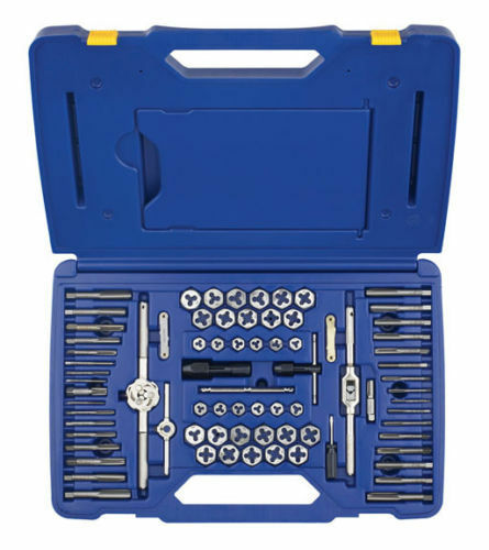 76 Pc. Machine Screw and SAEMetric Tap and Hex Die Set