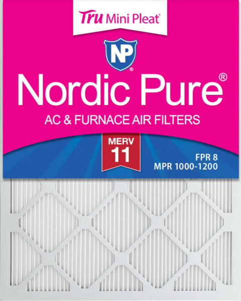 14x20x1 Nordic Pure Tru Mini Pleat AC Furnace Air Filters MERV 11 Qty 6