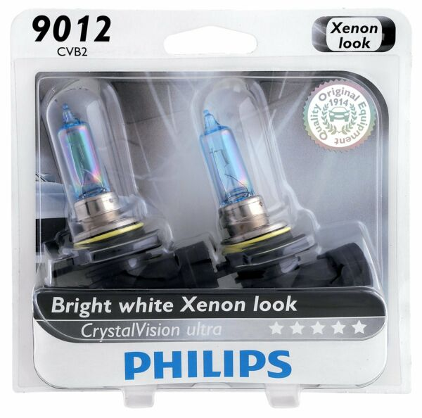 2x Germany Philips 9012 Upgrade Xenon White Ultra CrystalVision HIR2 Light Bulb