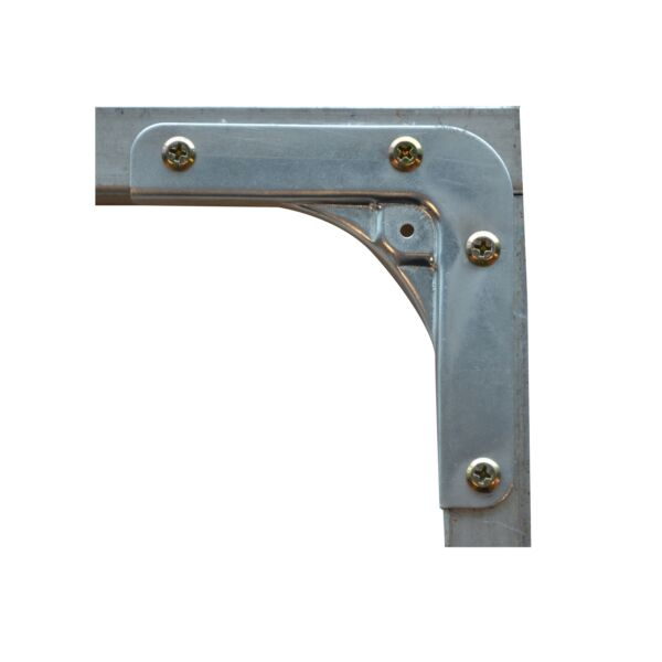 2x Metal Mate GALVANISED STEEL CORNER BRACKET 102x102x21x1.5mm SILVER *AUS Brand