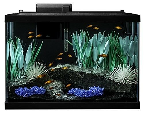 Aquarium Kit Fish Tank Color Change Led Light Filter Heater Plant 20 Gallon Gift