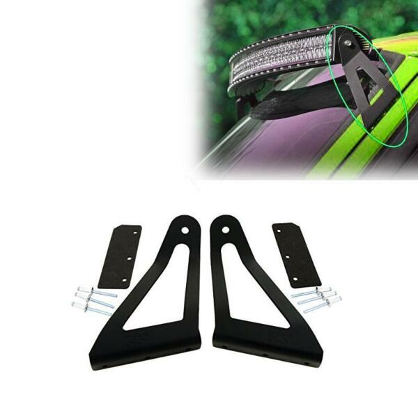 One 50quot; Curved LED Light Bar Mounting Brackets for Jeep Cherokee XJ 1984 2001