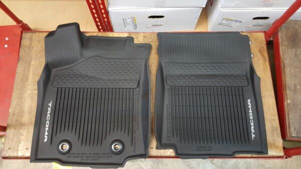 Toyota Tacoma 2016-2017 AT Double Cab All Weather Rubber Floor Liner Mat OEM NEW