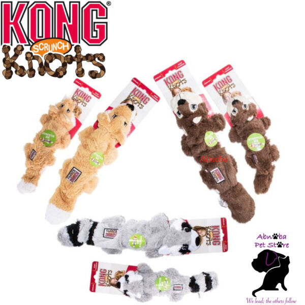 KONG Dog Scrunch Knots Plush Stretchy sides Stuffing-free Stretchy sides Squeaks $13.10
