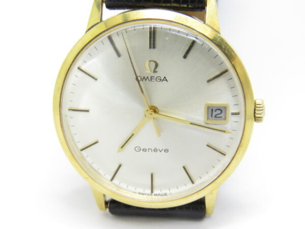 OMEGA Vintage Mechanical Movement Gents 18k. Yellow Gold Watch Omega Box 1970