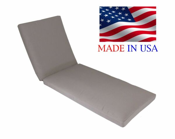 Made in USA Outdoor Chaise Lounge Cushion Pad Choice of Sunbrella Fabrics 26quot;W