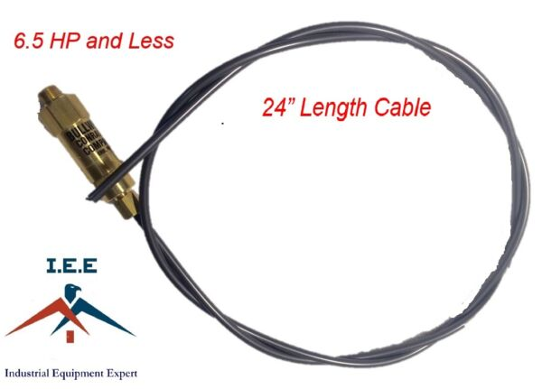 New Throttle Control Cable for Gas Air Compressors Unloader Bullwhip 24quot; $15.89