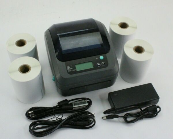 Zebra GX420d Network Direct Thermal Label Barcode Printer USB & Ethernet