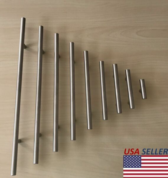 Stainless Steel Brushed Nickel Kitchen Cabinet Handle T Bar Pull Hardware 2