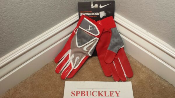 NIKE SWINGMAN PREMIUM GOAT LEATHER ADULT BASEBALL BATTING GLOVES GB9045 NWT