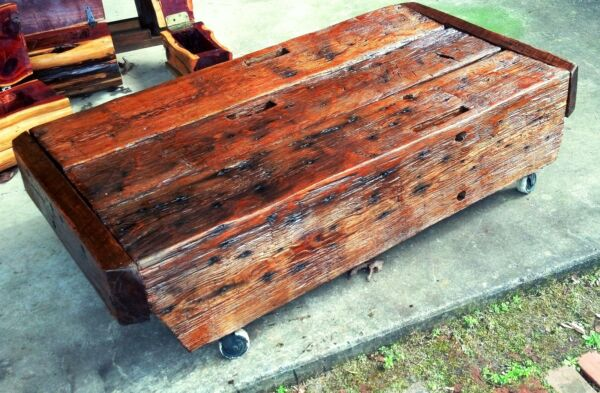 Custom Coffee Table made from Reclaimed Barnwood
