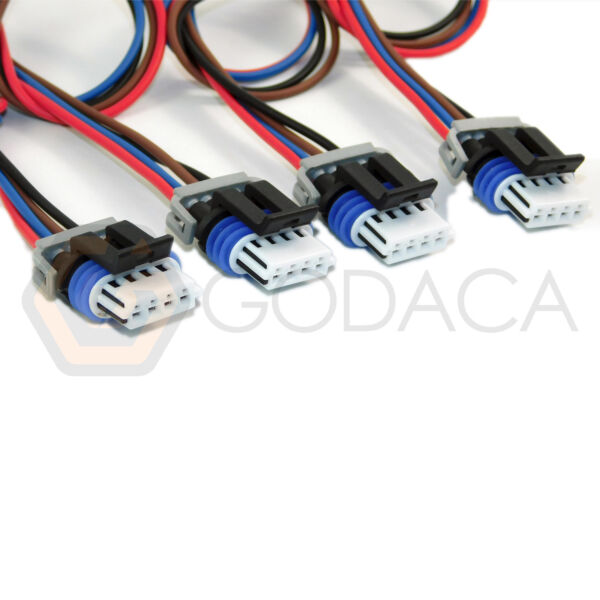 4x Connector 4-way 4 pin for Igntion Coil GM PT1627