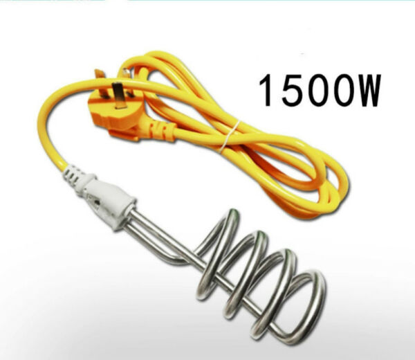 Water Heater Portable Electric Immersion Element Boiler Travel 220V1500W
